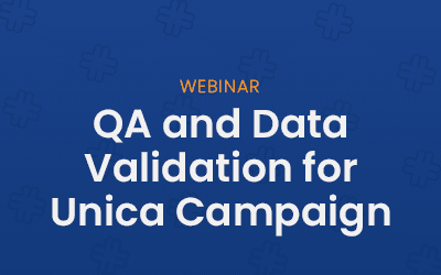 QA and Data Validation for Unica